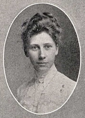 Cora Stallman Yearbook Portrait; 1904; U of Cincinnati