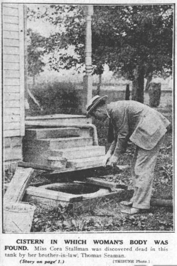 Cistern next to Cora's Cottage; 1922; Tribune Co