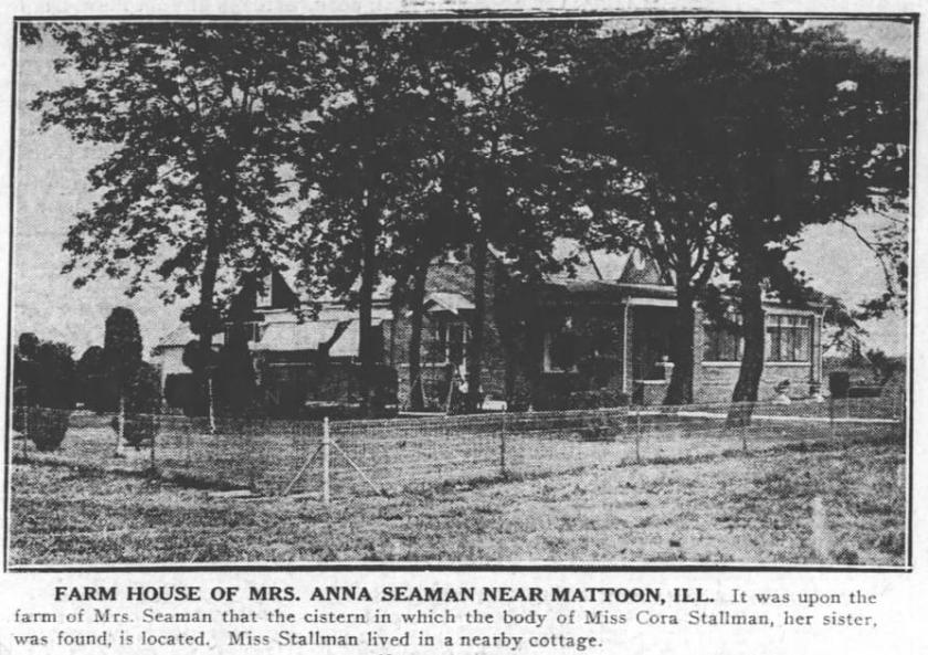 Anna Seaman's House near Mattoon; 1922; Tribune Co