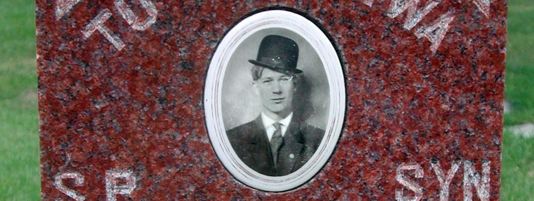 Barney Rostkowski Gravestone Portrait