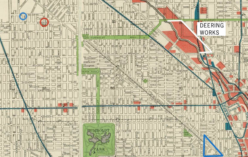 Map of Chicago 1904