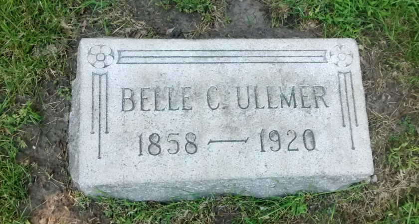 Belle Ullmer Headstone at Rosehill
