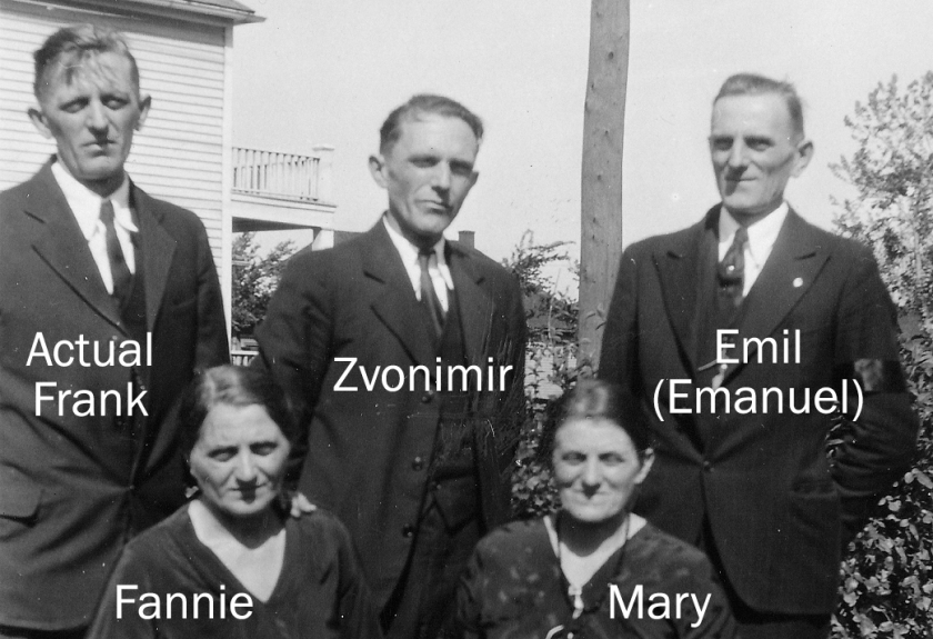 Brothers and sisters in the 1930s, at the funeral for Fannie's son.
