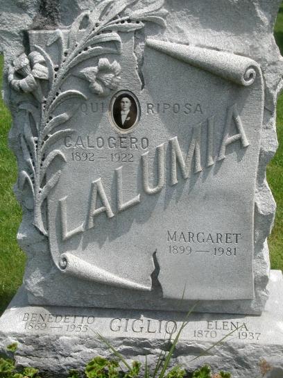 lalumia headstone