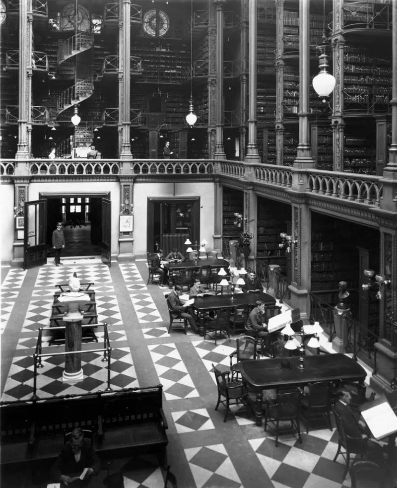 Main Hall, Cincinnati Public Library; 1900s