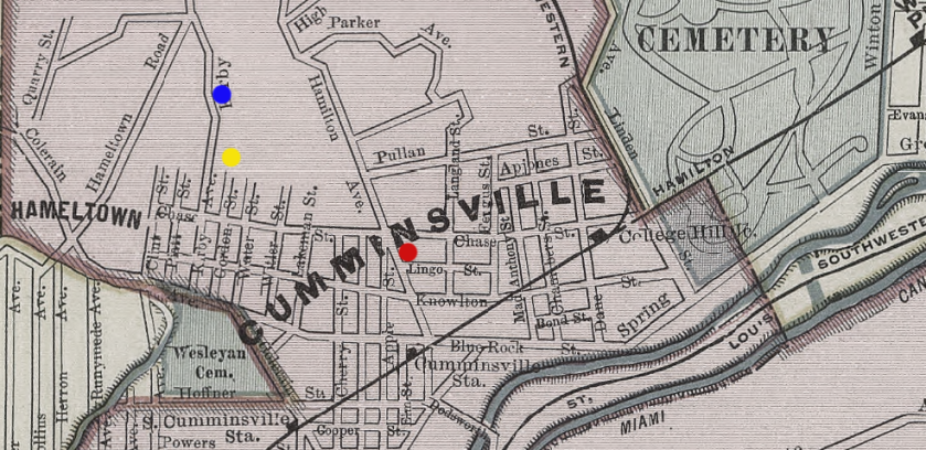 cumminsville map 1903