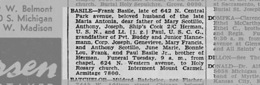 Frank Basile Obituary