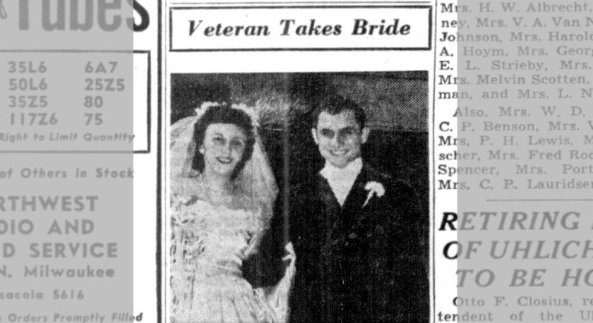 Minnie's son John gets married. Chicago Tribune; Dec. 10, 1944