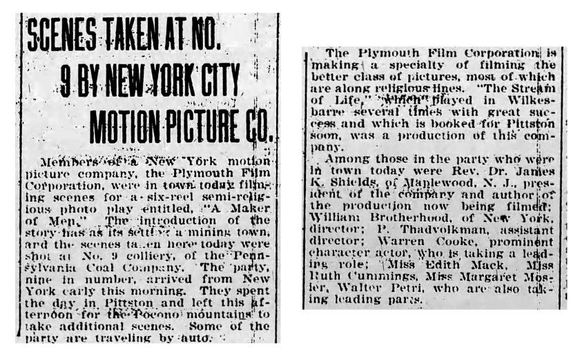 Pittston Gazette; Sept 6, 1921