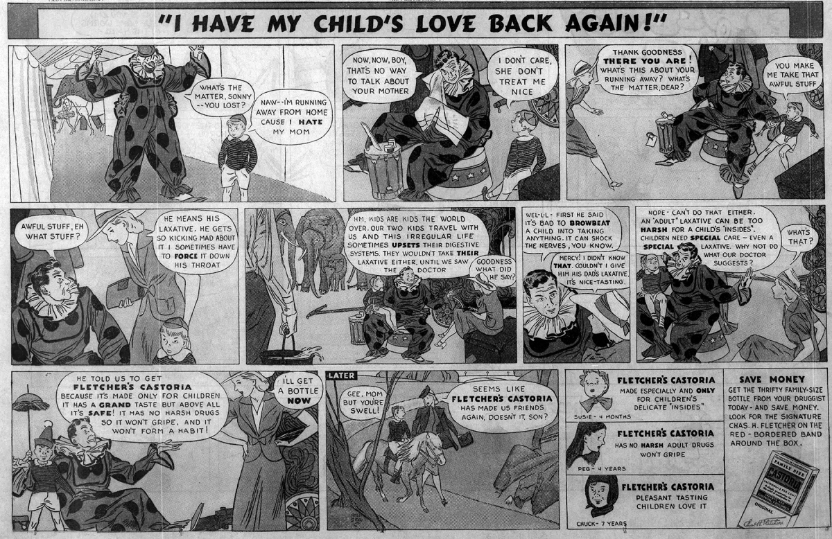 Old Ad of the Week: I have my child's love back again!