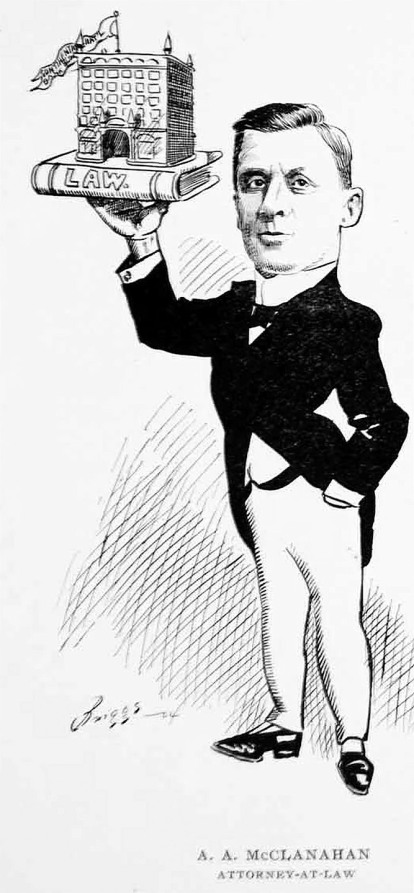 Archie's caricature, from a series of lithographs of important Chicagoans.