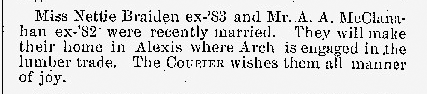 Monmouth College Courier; April 1, 1883