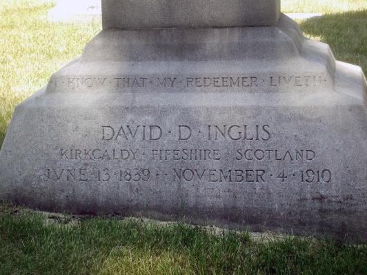David Inglis gravestone.