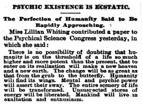 Chicago Tribune; Aug. 26, 1893