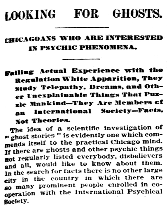 Chicago Tribune; May 31, 1896
